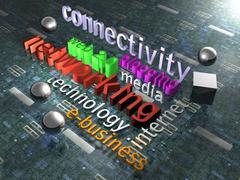 New Media - Background - 3D Stock Illustration