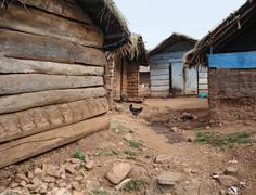 Small village on a island in the lake victoria Stock Photos