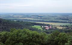 panoramic view from waldenburg - stock photo