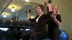 Healthclub WeightsTrainer Stock Footage
