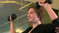 Healthclub WeightsTrainer 2 Stock Footage