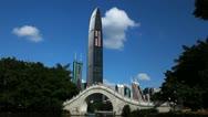 Stock Video Footage of Shenzhen, SEZ, China, Lychee Park, Kingkey 100, Shun Hing Square, time lapse