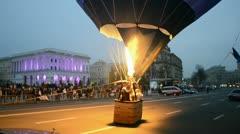 Stock Video Footage of Kiev aeronautic sport club air balloon on October 20, 2012 in Kiev, Ukraine