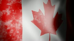 Flag of Canada with Noise Stock Footage
