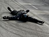 Stock Photo of motorbike accident
