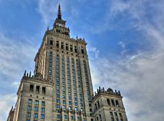 Palace of culture in warsaw Stock Photos
