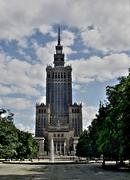 palace of culture in warsaw - stock photo