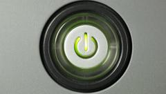 Press power button Stock Footage