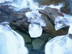 Stock Photo of icy river