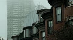 Brownstones Boston Stock Footage