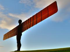 angel of the north landmark of gateshead newcastle - stock photo