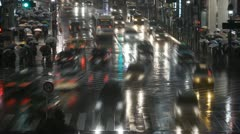 Time Lapse Shibuya Crossing City Street Tokyo Crowd Crosswalk People Walk Night - stock footage