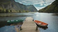 Mountain laketimelapse HDR 4K Stock Footage