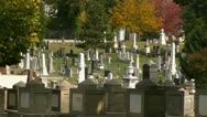 A View over the Congressional Cemetery in Washington, DC Stock Footage