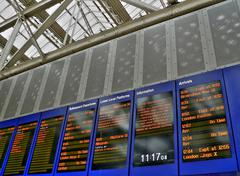 arrivals and departures board - stock photo