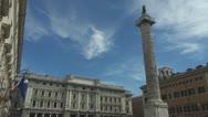 Italy Rome.Colnna Marco Aurelio. Stock Footage
