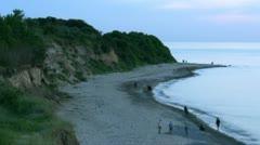 Baltic Sea Coast on Rügen Island - Northern Germany Stock Footage