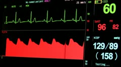 Heart Health Vital Signs Monitor Stock Footage
