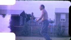 MAN JUMPS ROPE Jumping Exercise 1960s Vintage Film Home Movie 5374 Stock Footage