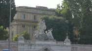 Piazza Popolo,Square Popolo,Rome Italy. Stock Footage