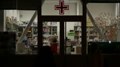 Drugstore Stock Footage