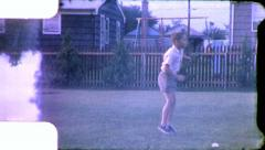 BOY JUMPING ROPE Jumps Exercise 1960 Vintage 8mm Film Home Movie 5375 Stock Footage