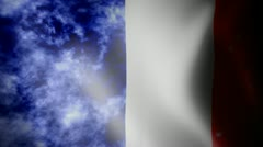 Flag of France with noise Stock Footage
