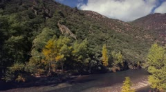 River rafting timelapse Stock Footage