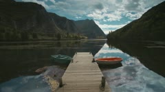 Boats on the lake Stock Footage