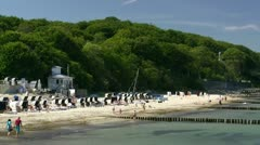 Summer on the Beach in Heiligendamm - Baltic Sea, Northern Germany Stock Footage
