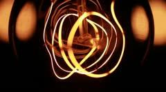 Filament Closeup Stock Footage