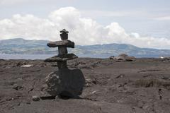 lava sculpture - stock photo