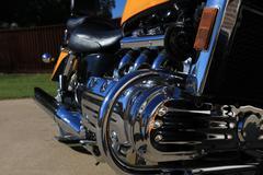 honda valkyrie motorcycle - stock photo