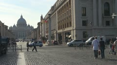 Street in Rome.Vatican. Stock Footage
