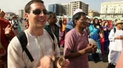 Hare Krishna Parade Stock Footage