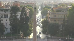 Italy, Rome, urban traffic, Pollution . Stock Footage