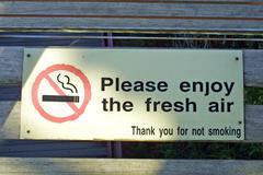 Creative no smoking sign - stock photo
