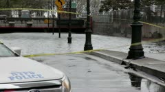 NYC Hurricane Sandy Flooded tunnel 2 - stock footage
