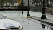 NYC Hurricane Sandy Flooded tunnel 2 Stock Footage