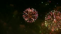 Firework exploding in the sky. Stock Footage