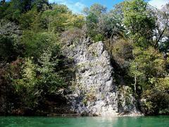 Spring River Rock Formation Stock Photos