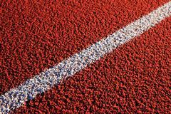 diagonal white track line - stock photo