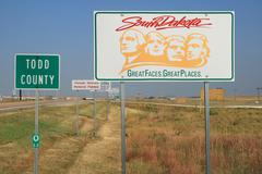 South dakota road sign Stock Photos