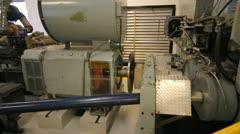 Aspen gondola top station motor transmission - machinery 3 Stock Footage