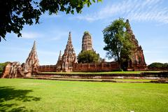 wat chai wattanaram - stock photo