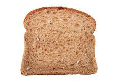 whole wheat bread slice - stock photo