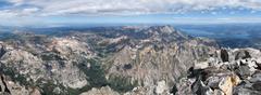 Grand teton summit panorama Stock Photos