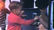 KIDS PETTING ZOO Baby Chicks 1955 (Vintage Film Old Home Movie Footage) 5392 Stock Footage
