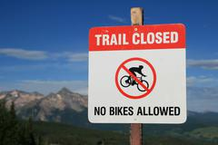 No bikes allowed sign Stock Photos