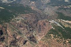 Royal gorge aerial photo Stock Photos